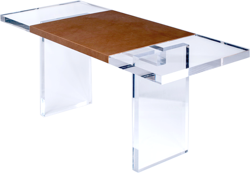 Leather Wrap Console Table